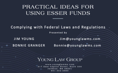 VIDEO LINK HERE FOR PRACTICAL IDEAS FOR USING ESSER FUNDS: Complying with Federal Laws and Regulations